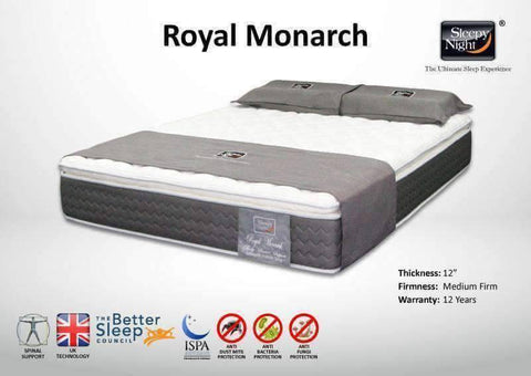 Sleepy Night Royal Monarch Pocketed Spring Mattress-Megafurniture