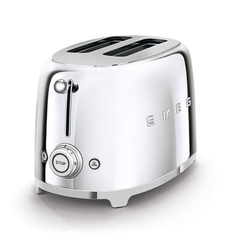 Smeg 2 Slice Toaster (Chrome)-Megafurniture
