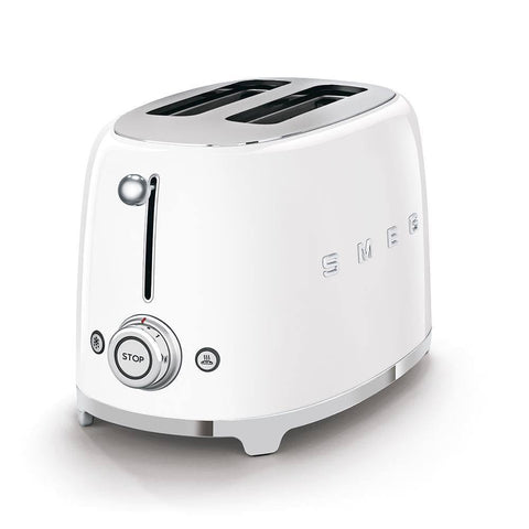 Smeg 2 Slice Toaster (White)-Megafurniture