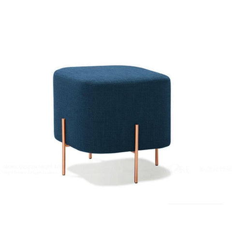 Sonnies Blue Ottoman-Megafurniture
