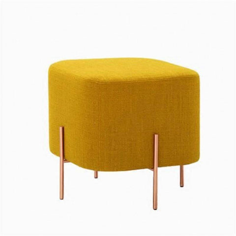 Sonnies Yellow Ottoman-Megafurniture