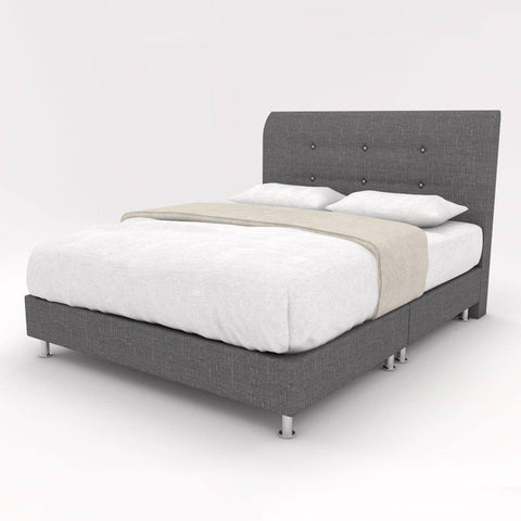 Stefano Fabric Bed Frame-Megafurniture