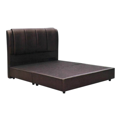 Summerchester Faux Leather Divan Bed Frame-Megafurniture