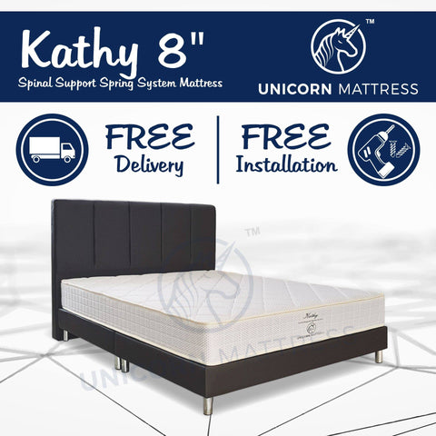 Unicorn Kathy Spinal Support Spring Mattress-Megafurniture