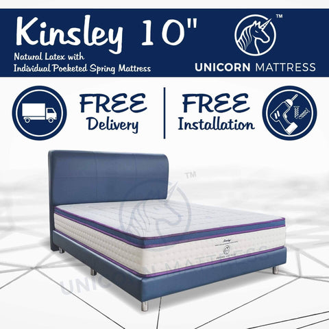 Unicorn Kinsley Natural Latex with Individual Pocketed Spring Mattress-Megafurniture