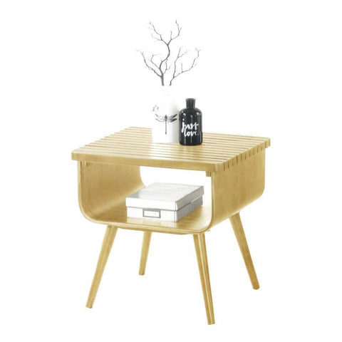 Wesson Oak Side Table-Megafurniture