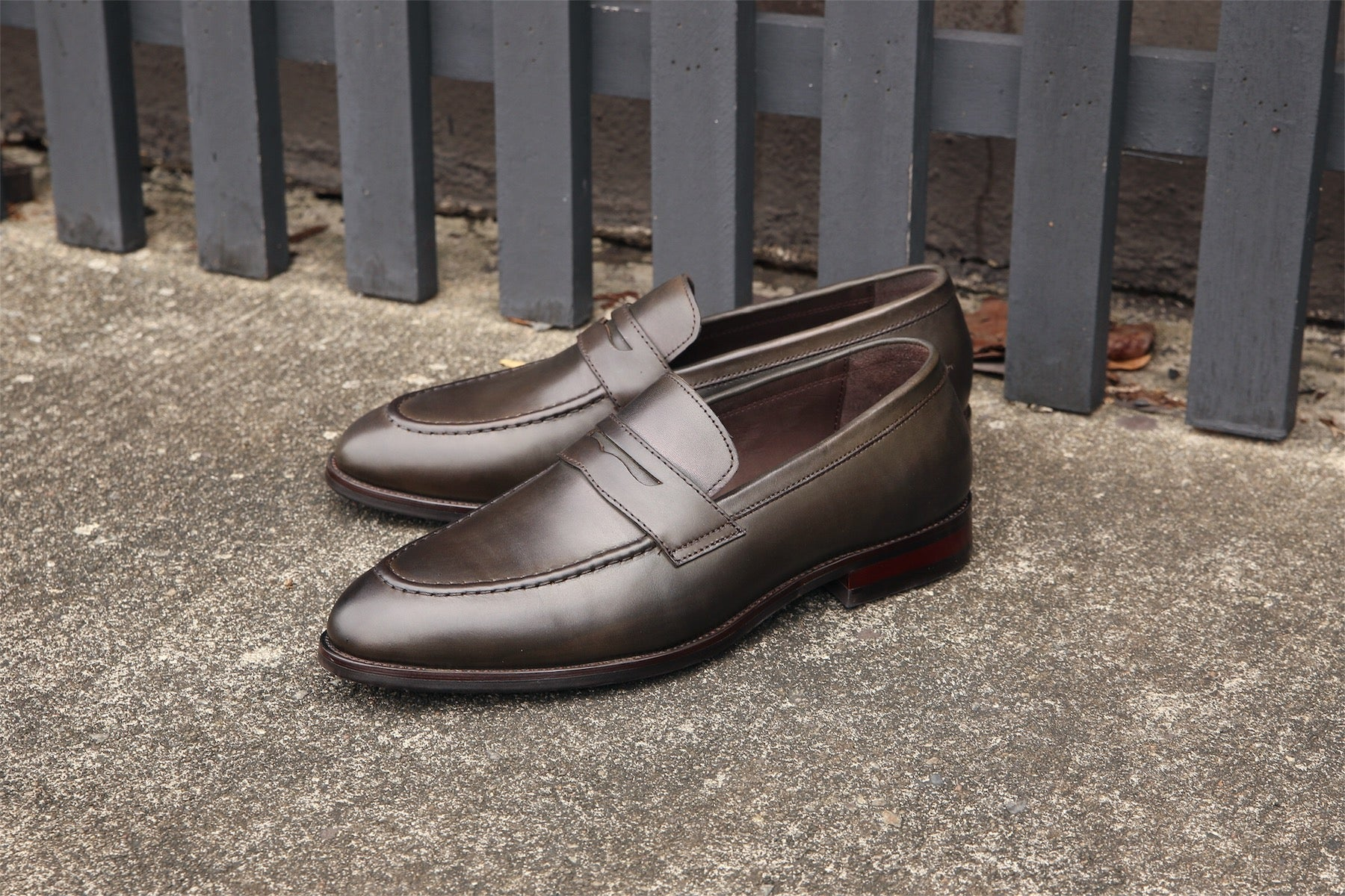 Earnest Collective Quality Mens Shoes Fair Prices D Island Slip On British Comfort Leather Dark Brown Limited Edition
