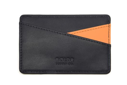 BOLDR Slim Wallet 2.0 - Black/ Brown
