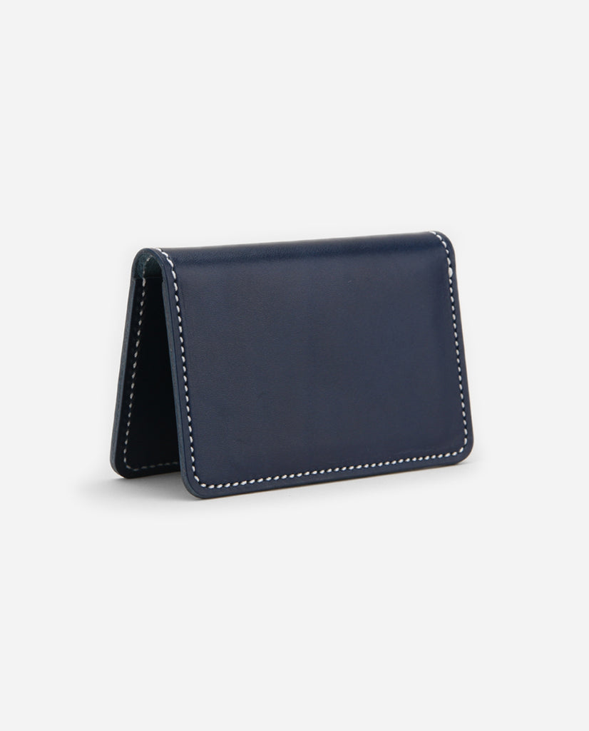 Crawford Leather Cardholder - Navy