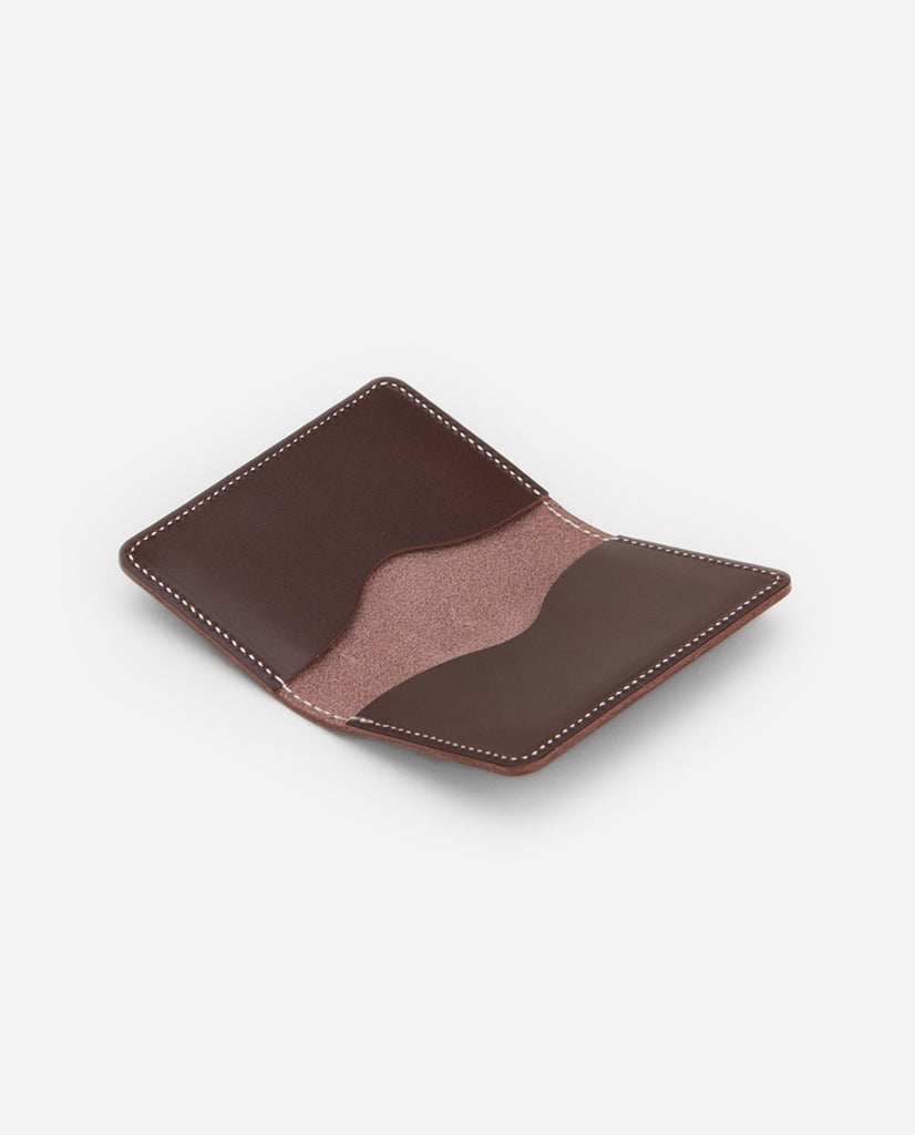Crawford Leather Cardholder - Chocolate