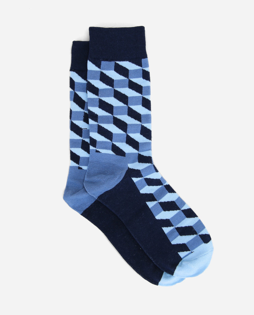 Illusion Sock - Blue