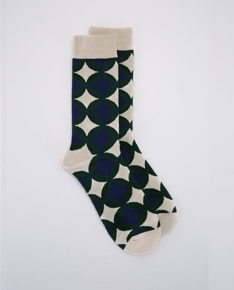 Gem Sock - Green/ Navy