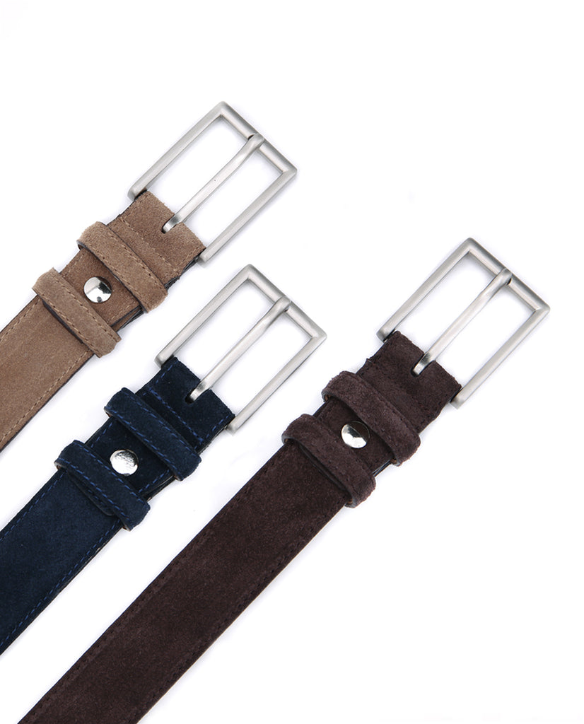 Suede Leather Belt - Sand