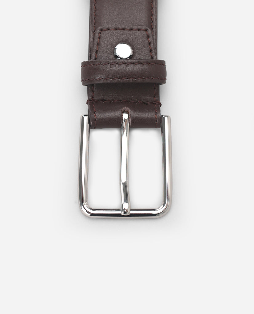 Calf Leather Belt - Chocolate
