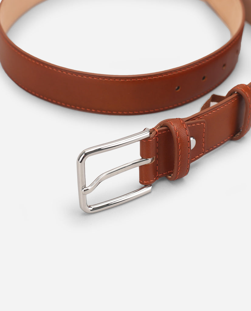 Calf Leather Belt - Saddle