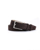 Suede Leather Belt - Dark Oak