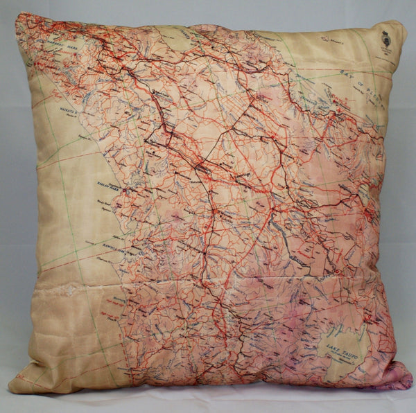 Flight Map Cushion Cover - Auckland and Bay of Plenty