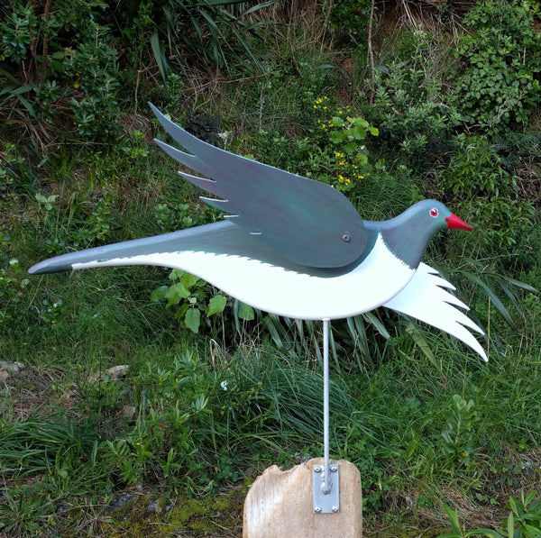 Wood Pigeon Wind Sculpture