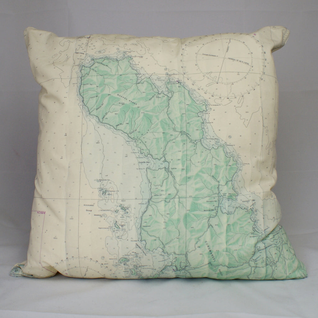 Nautical Chart Cushion Cover - Coromandel