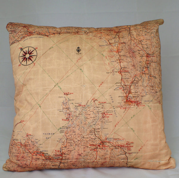 Flight Map Cushion Cover - Wellington