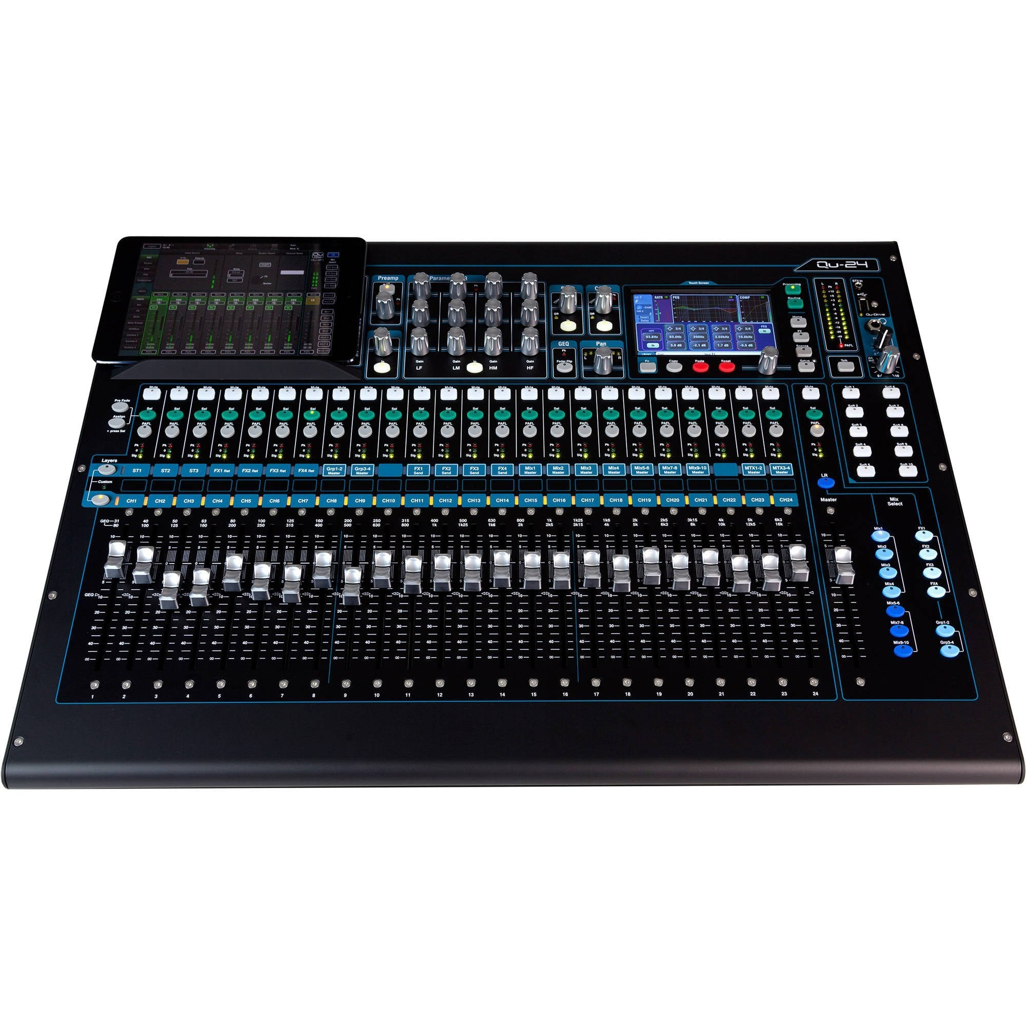 Allen & Heath Qu24 Digital Mixing Console (Chrome Edition)