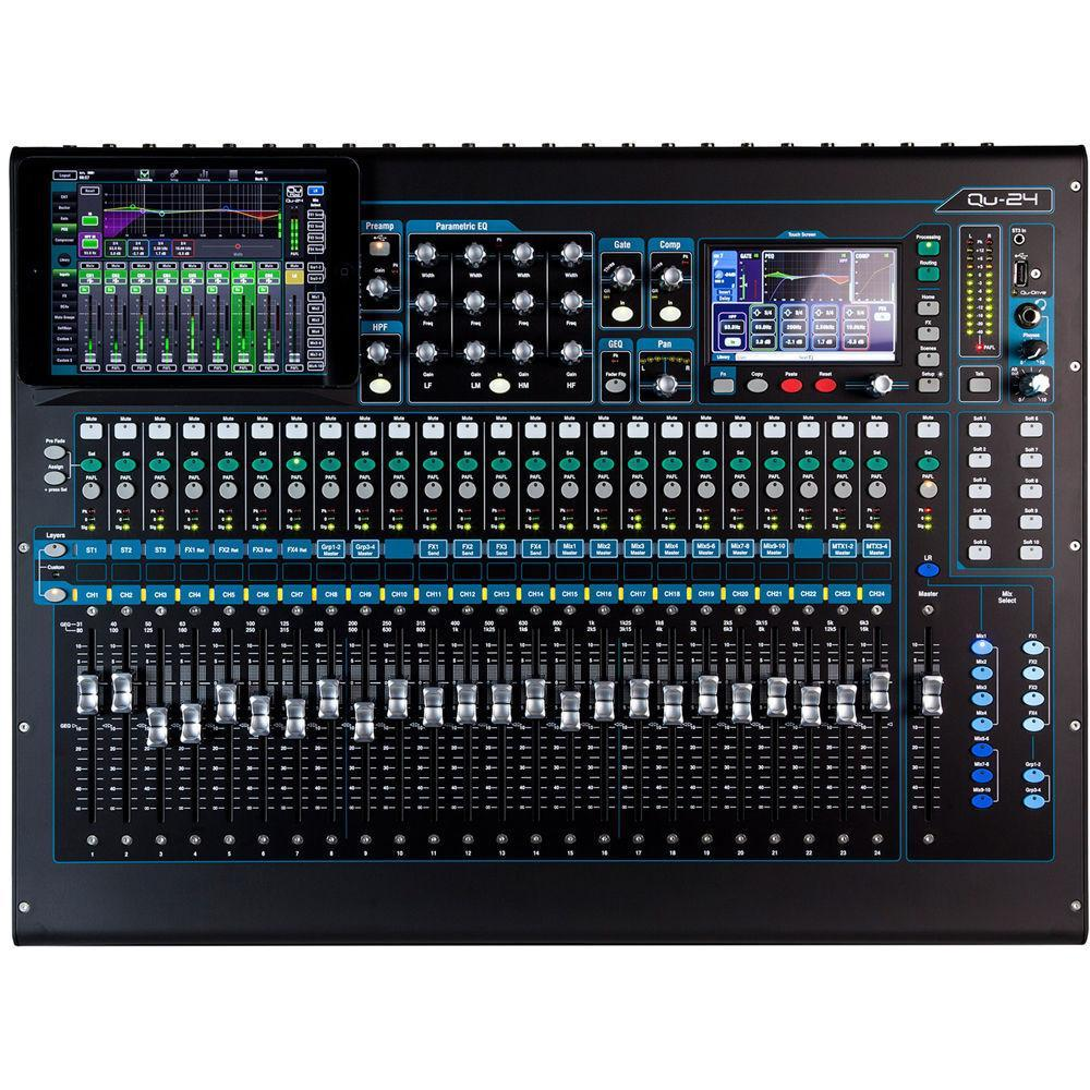 Allen & Heath Qu24C Digital Mixing Console (Chrome Edition)
