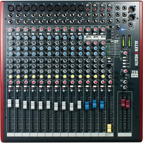 Allen and Heath ZED16FX 16-Channel Mixer with FX