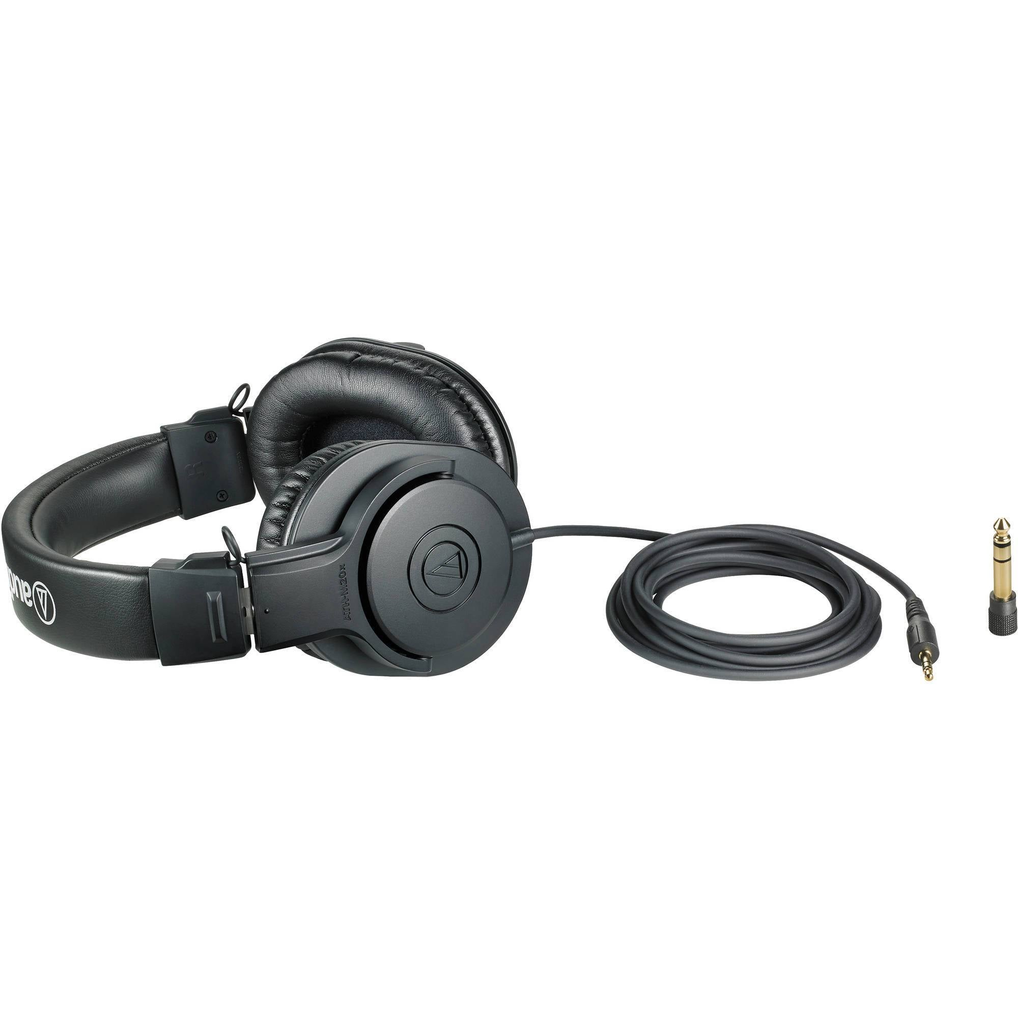 Audio-Technica ATH-M20x Closed Back Monitoring Headphones