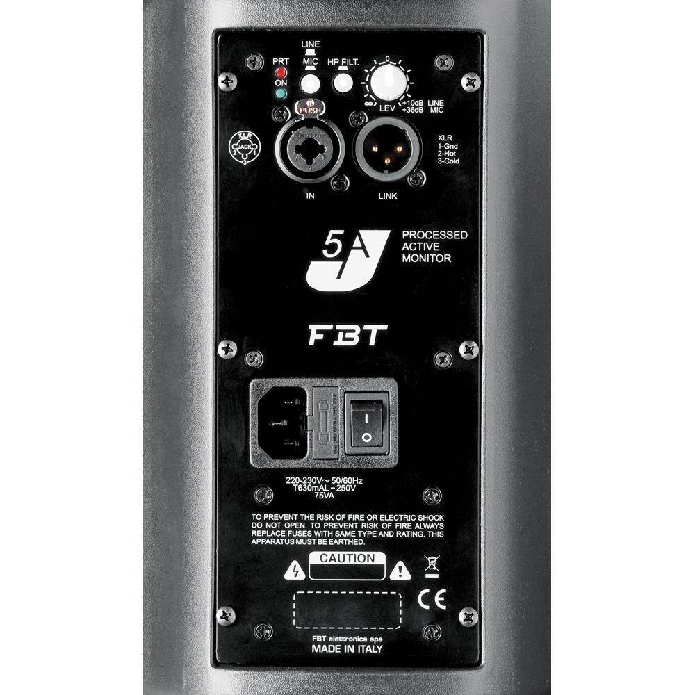FBT J5A Processed Active Monitor 80W + 40W RMS (Black)