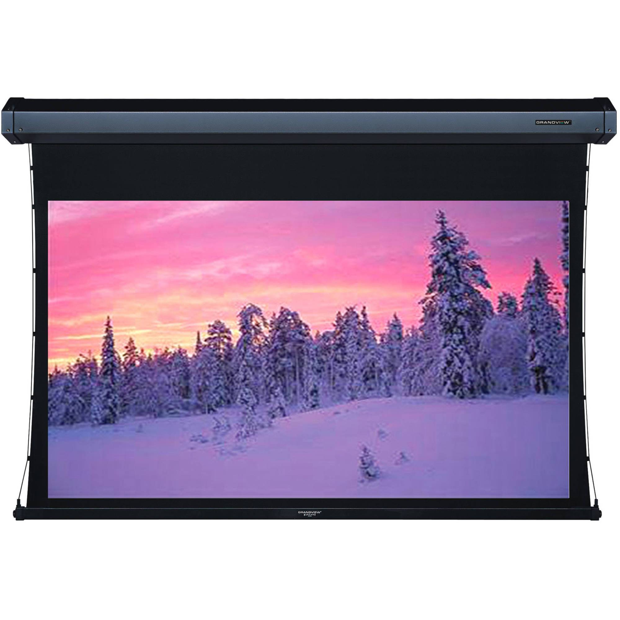 "Grandview Cyber 84"" Tab Tension Motorized Projector Screen"