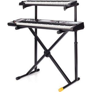 Hercules KS210B EZ-LOK Double Tier X-Keyboard Stand