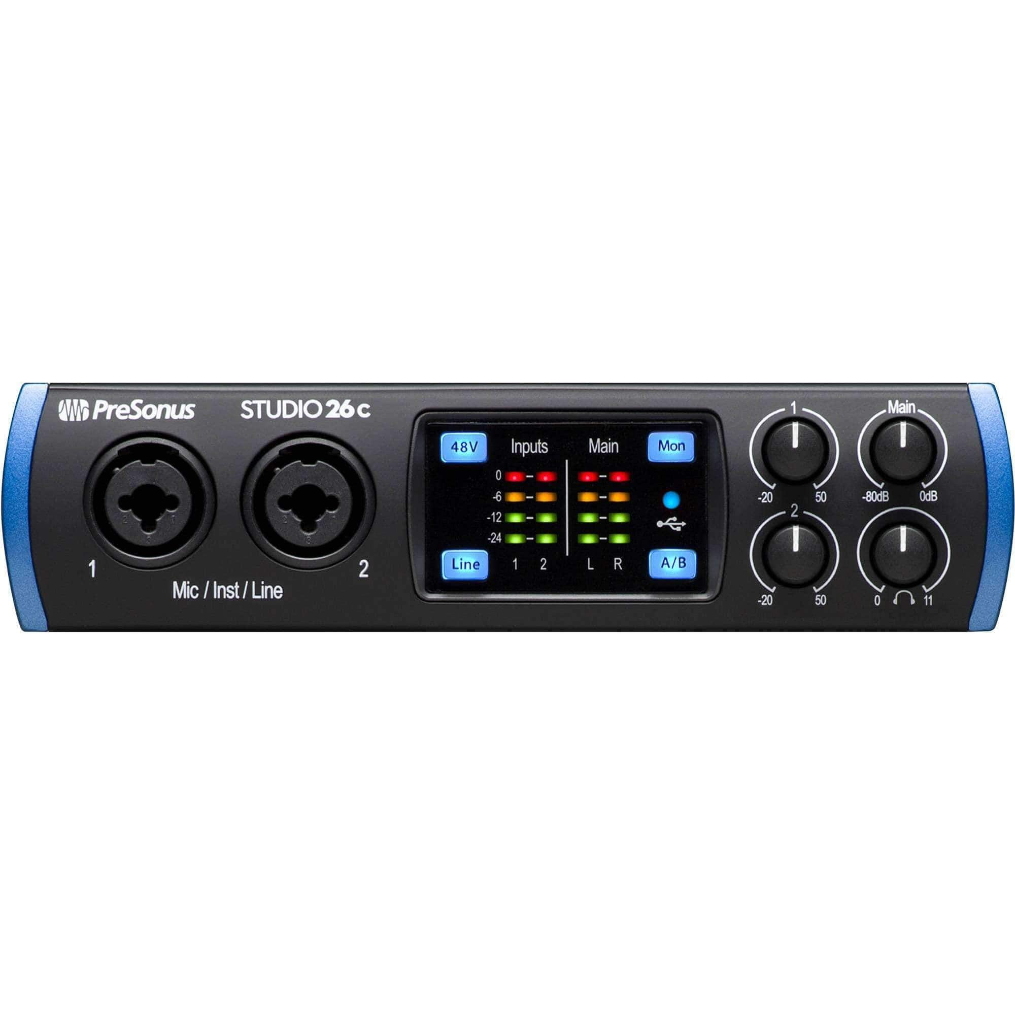 PreSonus Studio 26c 2x4 USB Type-C Audio Interface