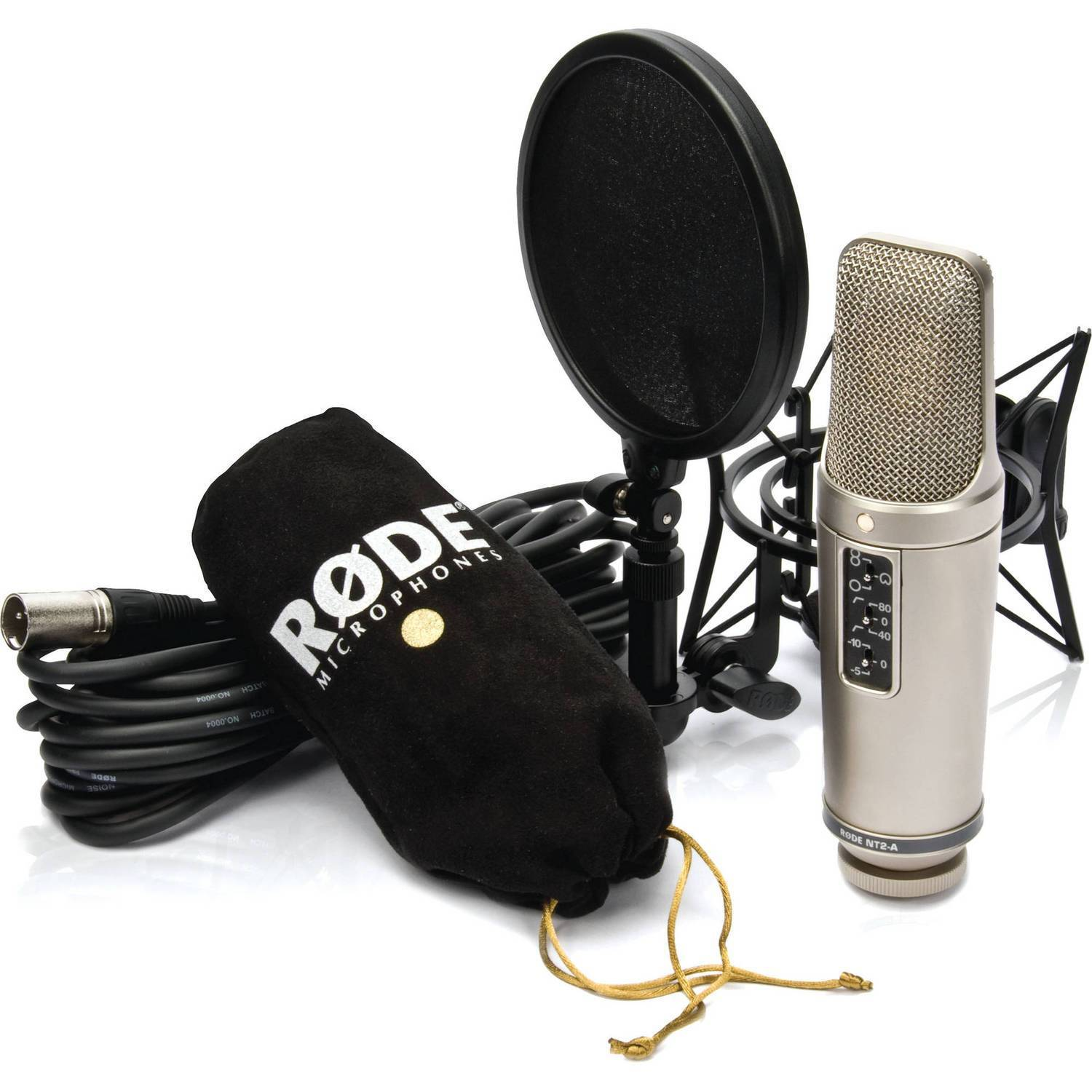 Rode NT2A Large Diaphragm Condenser Microphone Studio Solution System