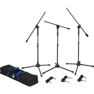 Samson BL3VP R21S 3 Pack Microphone + Stand Bundle (Bag Incl.)