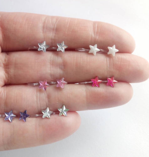 Pretty Ears- PURPLE Rhinestone Star