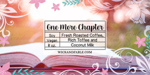 One More Chapter - Bookish Candle