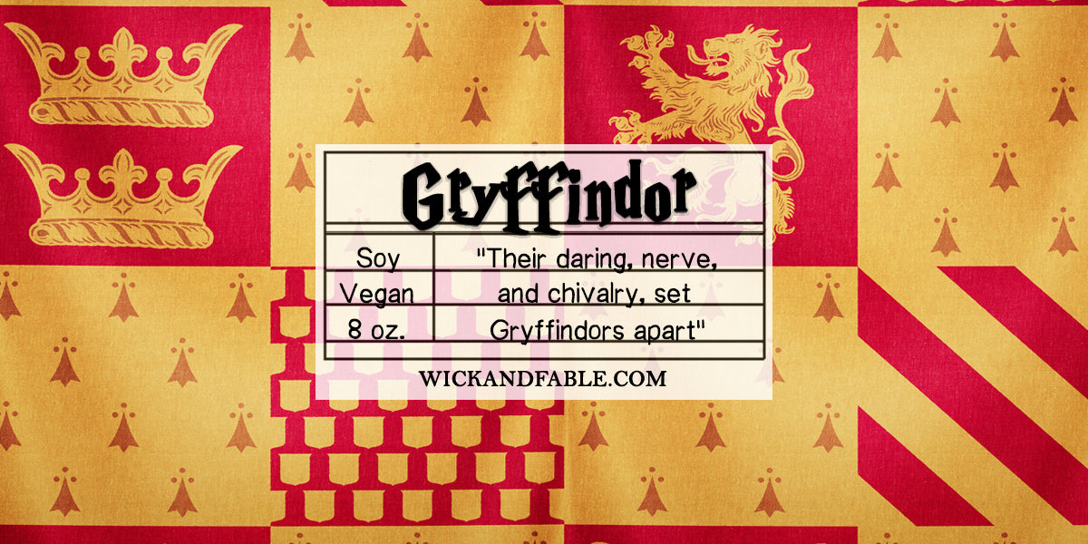 Gryffindor Harry Potter Wick And Fable