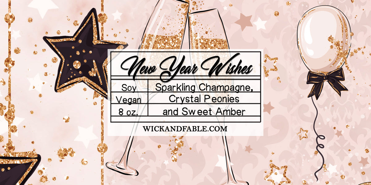 new year wishes limited edition 2018 scented soy candle