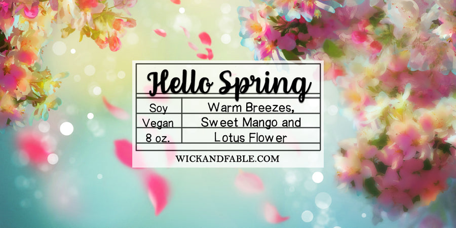 Hello Spring - Limited Edition Spring Soy Candle