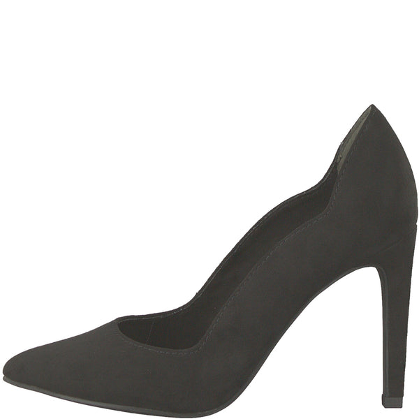 Marco Tozzi black suede pointy court