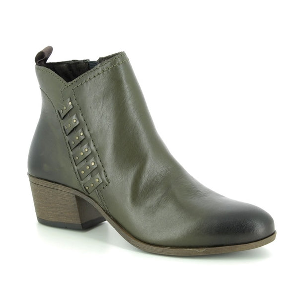 Marco Tozzi green leather boot 25320