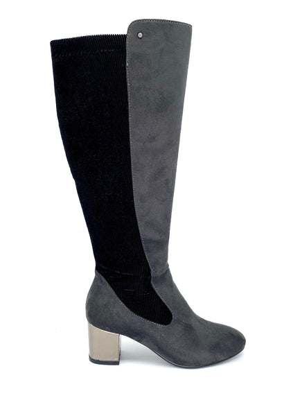Zanni & Co Chaat One Grey Knee High Boots