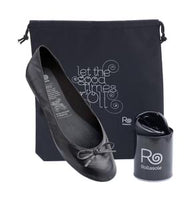 Rollasole Back To Black Fold up Pumps