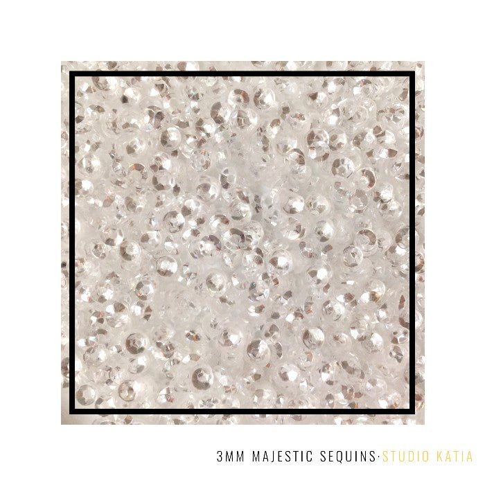 Studio Katia Majestic Clear Fusion Mini 3mm Sequins