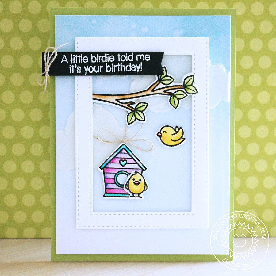 Sunny Studio Stamps A Bird's Life Birthday Card by Eloise