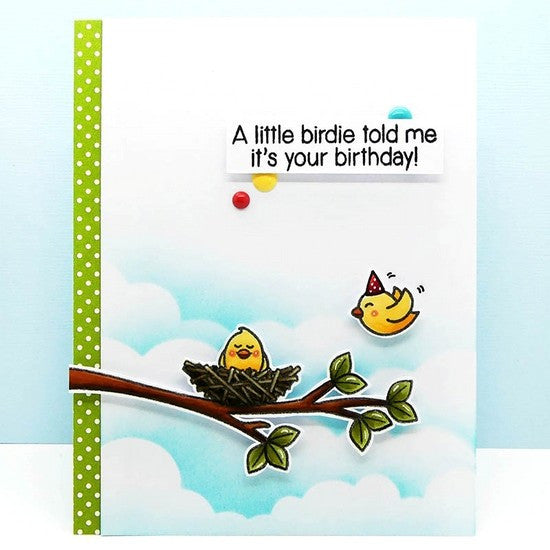 Sunny Studio Stamps A Bird's Life Birthday Card