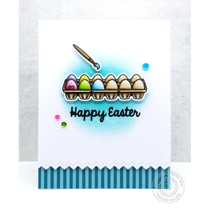 Sunny Studio Stamps A Good Egg Painting Easter Eggs With Carton Card