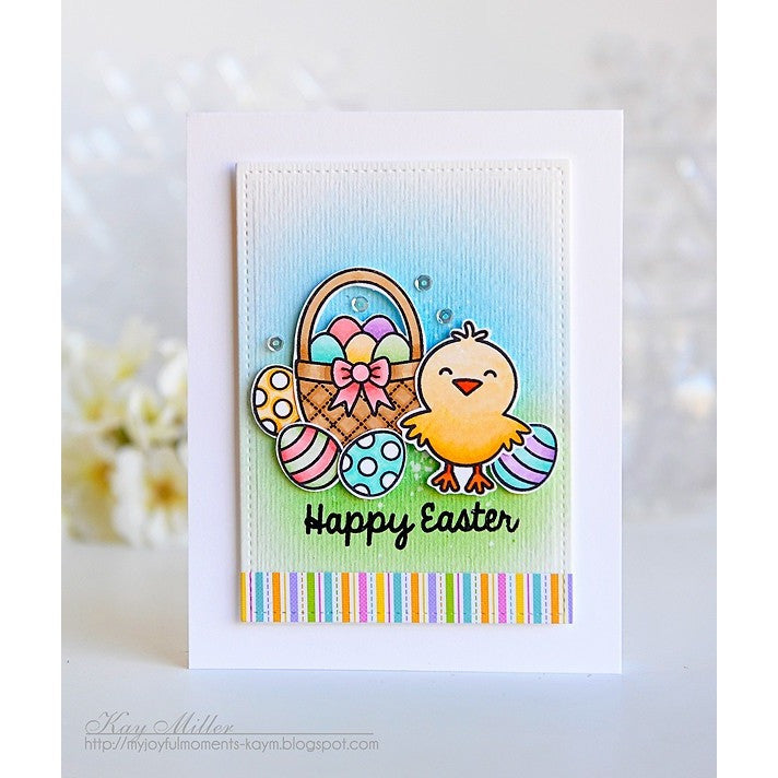 Sunny Studio Stamps A Good Egg Easter Basket & Chick Card
