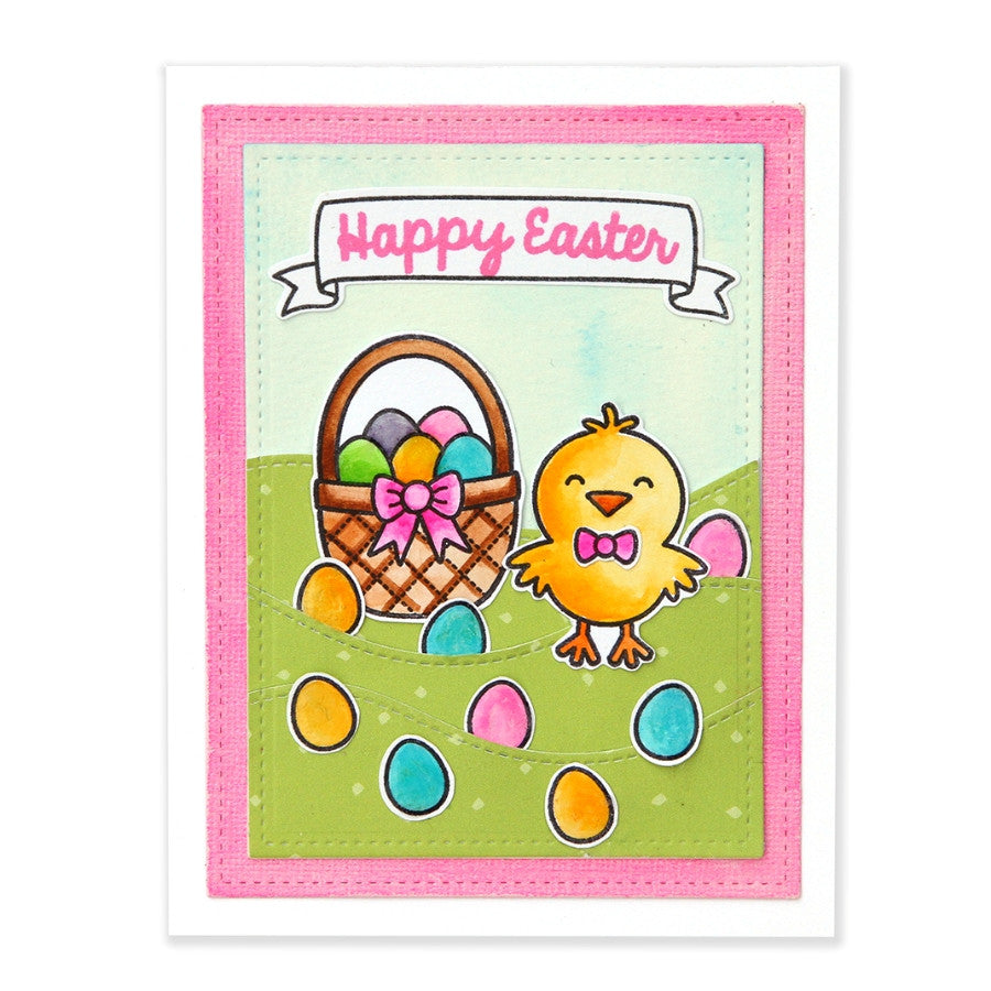 Sunny Studio Stamps A Good Egg Chick With Easter Egg Hunt Card