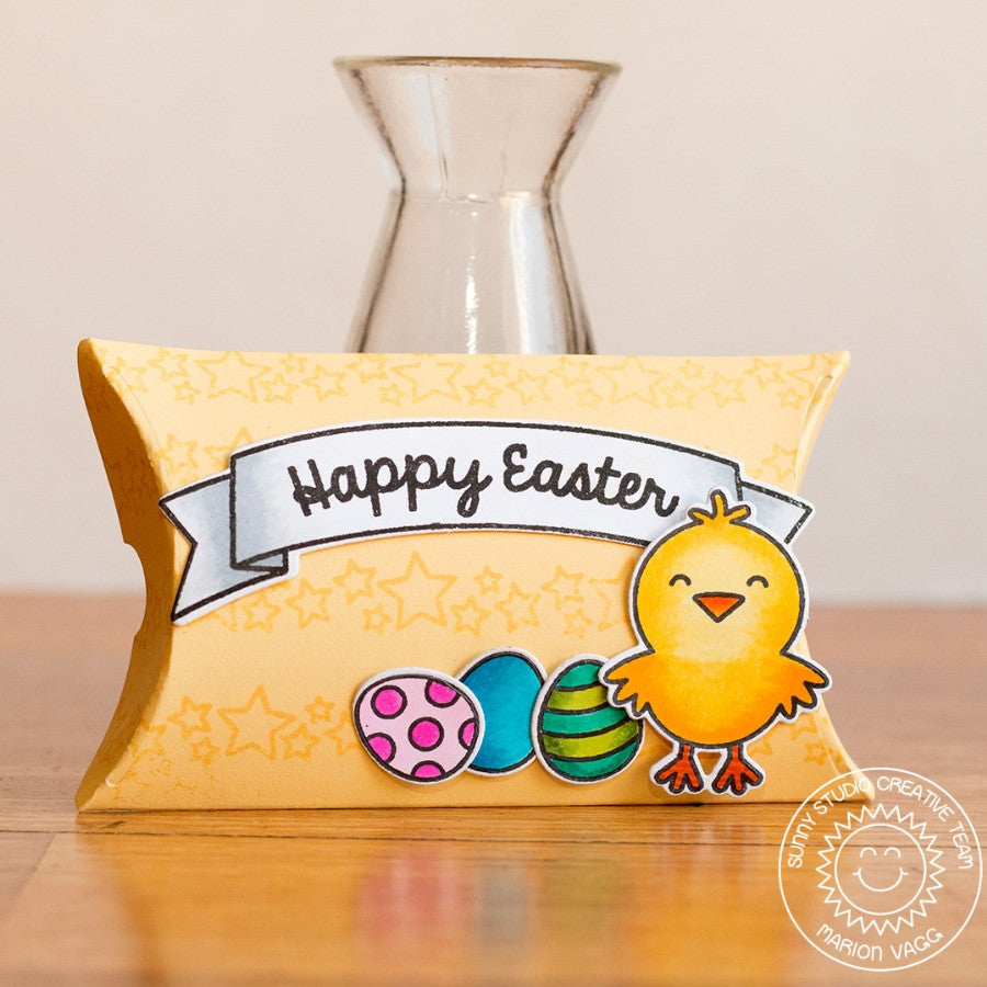 Sunny Studio Stamps A Good Egg Easter Chick Pillow Gift Box